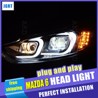 A T Car Styling For Mazda6 Atenza LED Headlight Mazda 6 Headlights DRL Lens Double Beam