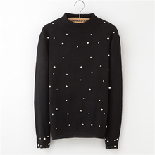 Winter Sweater Women Round Neck Pullover Fashion Casual Long Sleeve Solid Color
