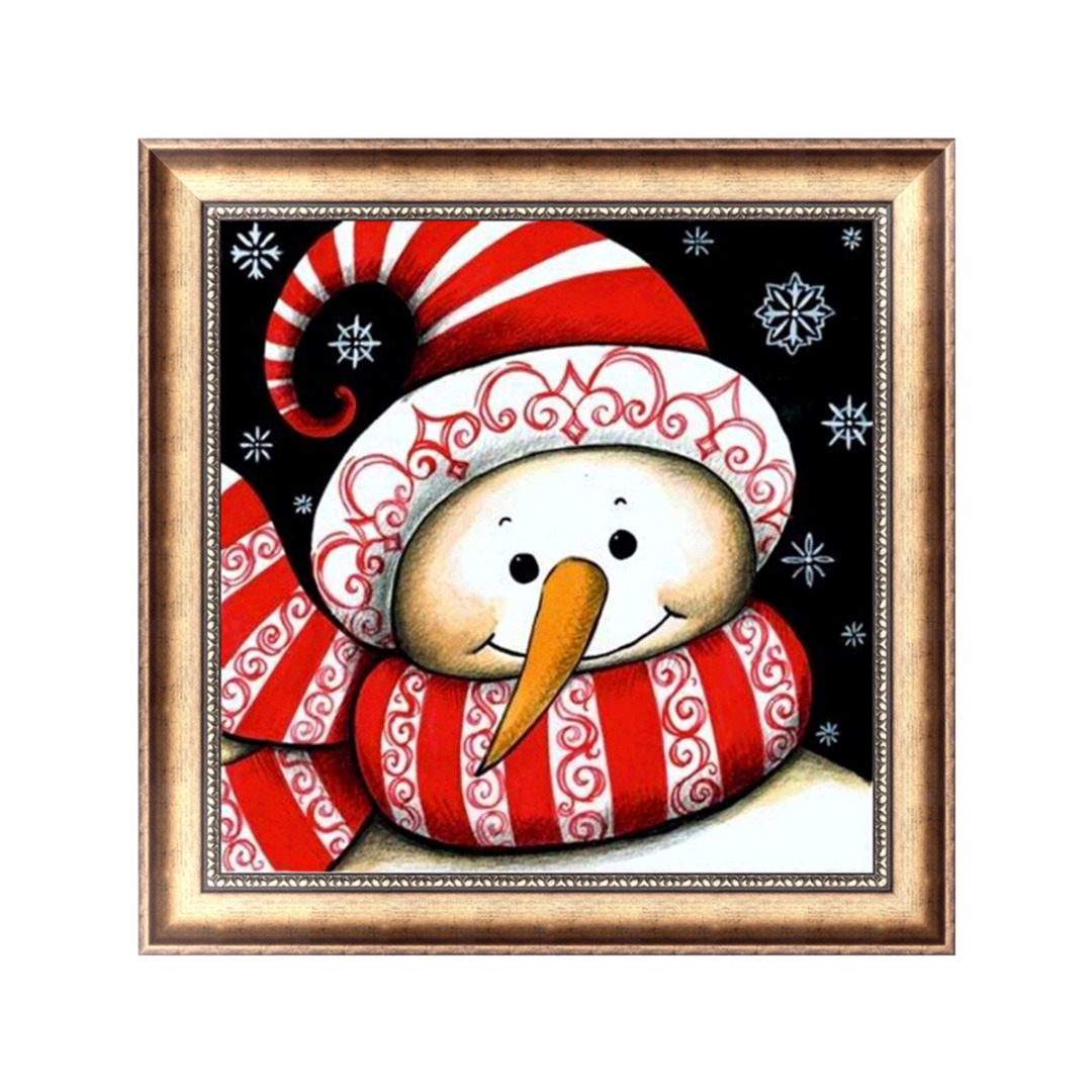 DIY 5D Snowman Diamond Painting Embroidery Cross Stitch Craft Home Decoration Paint for Bedroom Study Hallway Living Room Decor