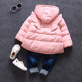 Kids girls winter cotton padded female baby girl cartoon wings thick cotton padded jacket