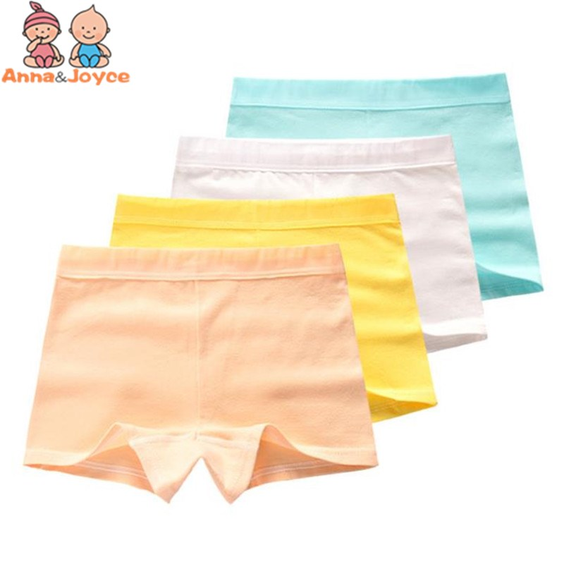 6pcs/lot Mix Color Girls Boxer Underpants Children's Pure Underwear Girl's Cotton Candy Color Flat Pant Girl's Boxer u convex pouch color block spliced edging band boxer brief