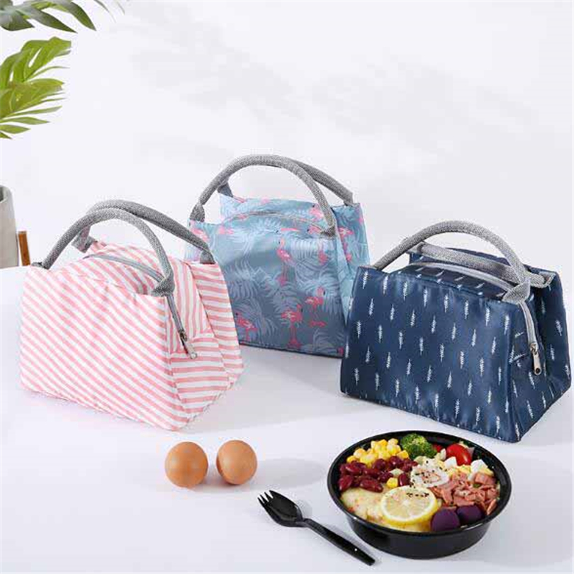 Portable Insulated Thermal Cooler Bento Lunch Box Tote Picnic Storage Bag Pouch Lunch Bags Icepack Container School Food  Bags