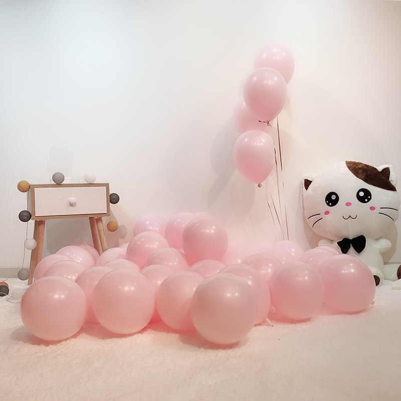 Menebal 10 Inch Satu Lapisan Macarons Permen Warna Seri Balon Pesta Pernikahan Dekorasi Balon Rantai