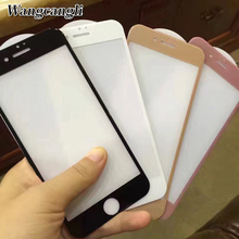 2 PCS Ultra thin 4D glass screen protective For iPhone 6/6plus/6s/7/7plus tempered Edge Full Cover