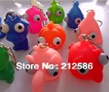Free shipping 30pcs/lot soft rubber squeeze toy animal Stress Relief funny  toys Squeeze Key chain