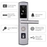 Электронный замок двери Keyless смарт доступа отпечатков пальцев Управление биометрический замок