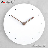 Top Sale 15 inch White Ring Wall Clock Modern Fashionable European Style Promotion diy Wall Clocks for Livingroom