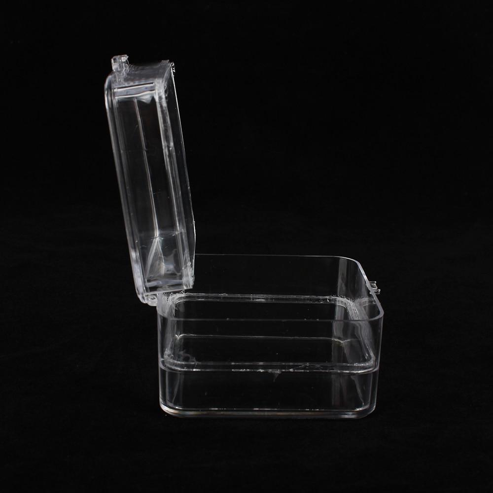 10pcs a Pack Transparent Plastic Dental Crown Box Clear Dental Membrane Box Tooth Organizer 4