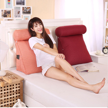 Smelov Bed Triangular Backrest Pillow Big Back Support Bedside Lumbar Chair Cushion Lounger Reading
