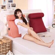 Smelov yatak üçgen arkalığı yastık büyük arka destek yastığı başucu lomber sandalye bel yastığı şezlong okuma yastığı
