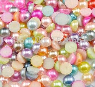 4 мм 1700 шт. смесь цветов полукруглый набор бусин ** ювелирные подвески коренастый бисер Оптовая Ремесла Рождественский имитация жемчуга