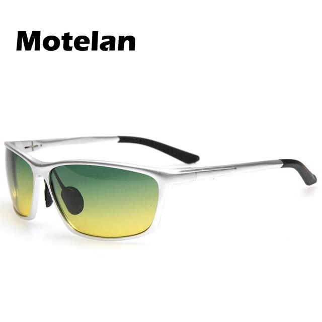 2016 Hot Sale Dia Noite em Uma Lente de Óculos de Visão Óculos Polarizados Condução Óculos de Pesca Anti-reflexo Óculos Da Moda para motoristas