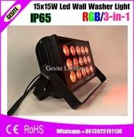 15x15 W DMX512 Levou Arruela Da Parede RGB 3IN1 À Prova D' Água Luz Do Estágio