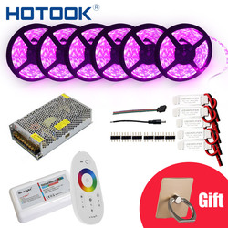 HOTOOK LED Striscia 10 m 20 m 25 m 30m12V RGB RGBW Set Impermeabile 5050 Flessibile 300LED della banda 5 m IP65 nastro diodo LED Nastri di Corda Kit