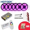HOTOOK tira de LED de 10 m 20 m 25 m 30m12V RGB RGBW conjunto impermeable 5050 300LED de 5 m IP65 de cinta cuerda LED cintas Kit