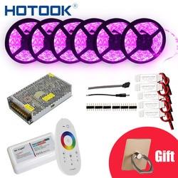 HOTOOK tira de LED de 10m 20m 25m 30m12V RGB RGBW conjunto impermeable 5050 300LED de 5m IP65 de cinta cuerda LED cintas Kit