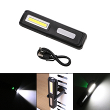 2 Mode Inspection Lamp COB LED USB Rechargeable Magnetic Folding Hook Tent Camping Torch Flashlight Work Lights Built-in Battery(China)