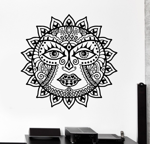 MÉMORANDUM D\'ACCORD Classique Soleil Fleurs mandala sticker Scorpion ...