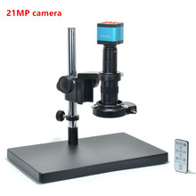 Full Set 2K 21MP HDMI USB Industrial Electronic Digital Video Microscope Camera 180X C-mount Zoom Lens 144LED Light forSolderin