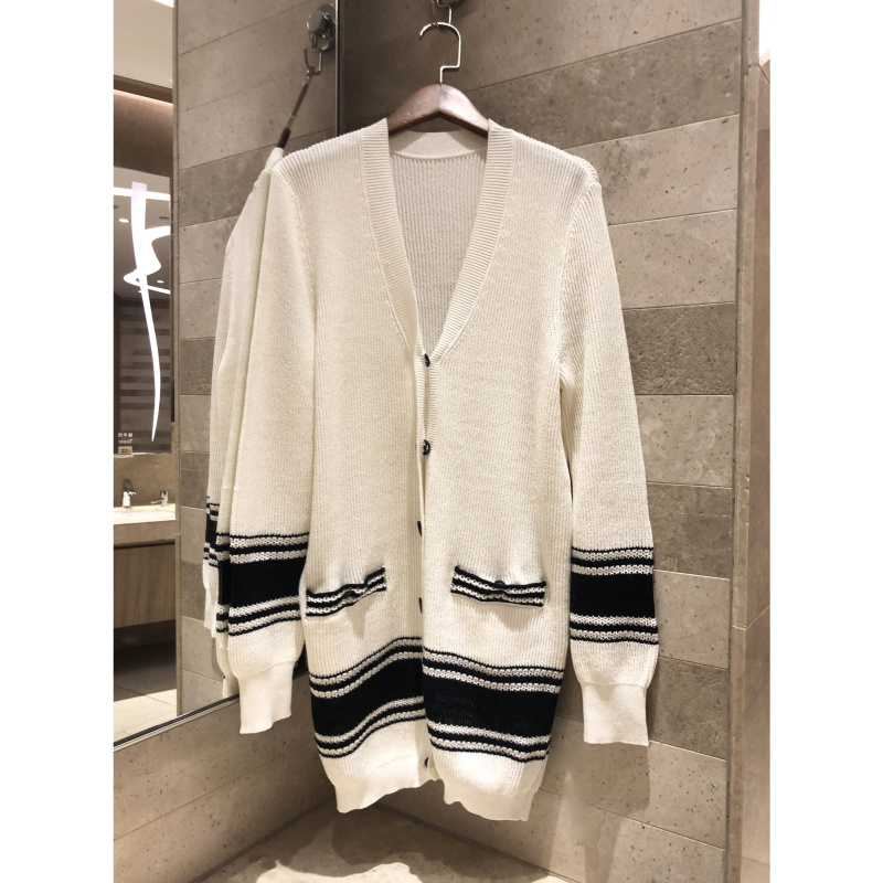 Knit Cardigan Women s Casual Cardigan Sweater Knit Jacket Top Fashion colorblock cardigan sweater