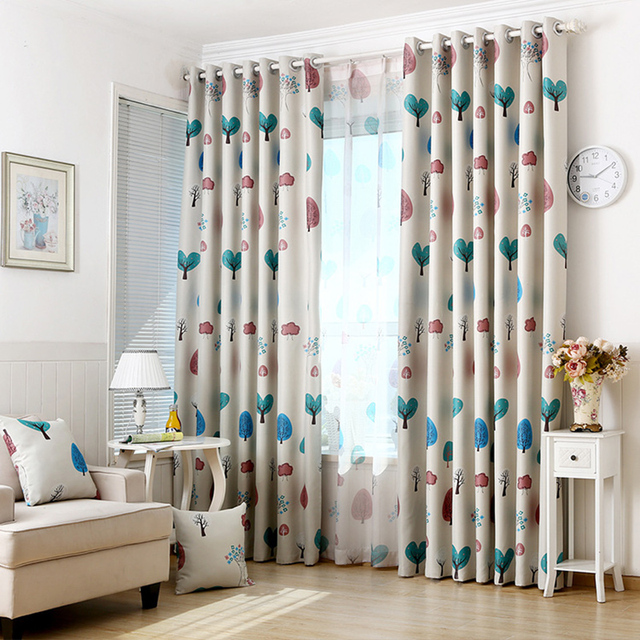 US $14.05  European Style Printing Blackout Curtains Cartoon Tree pattern  Children Bedroom Curtains Home Deco curtains for living room-in Curtains ...