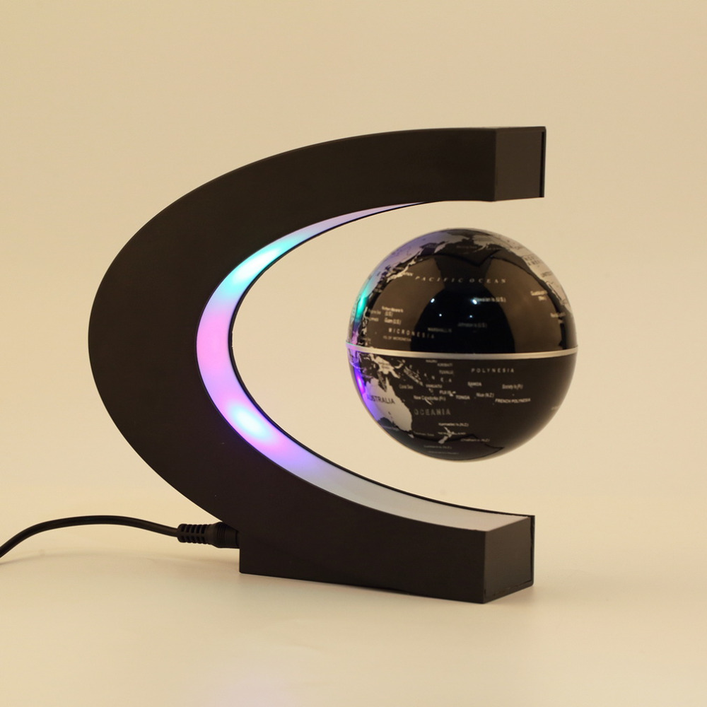 New Arrival 1Pcs Novelty Decoration Magnetic Levitation Floating Teach Education Globe World Map Decoration Santa Gift US Plug