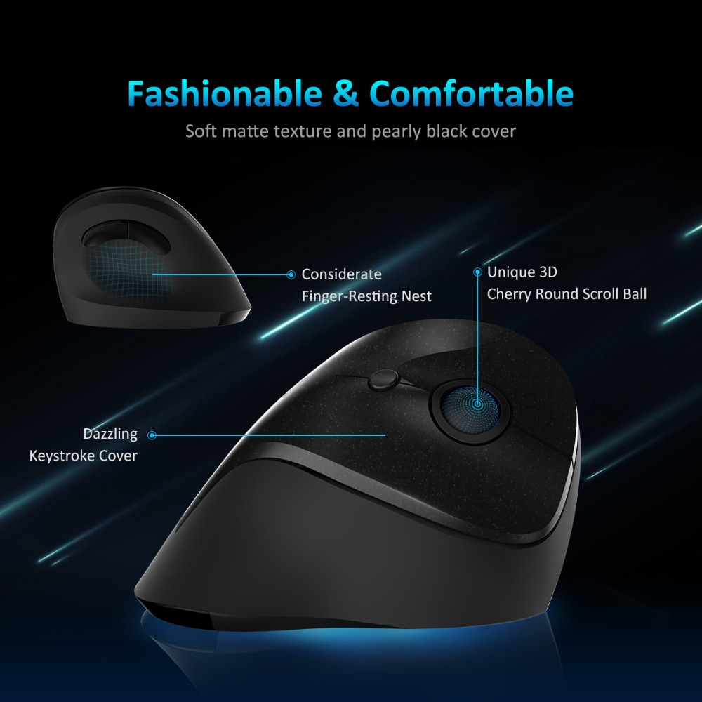 VicTsing 2 4G Wireless Mouse Comfortable Ergonomic Vertical Mouse DPI  Adjustable Computer Mouse With USB For Windows 7/8/10/XP