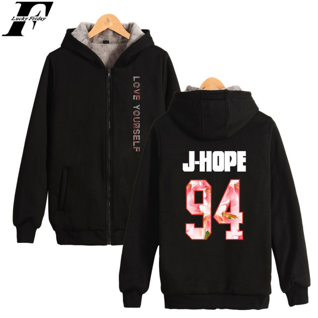 LUCKYFRIDAYF BTS Dicken Sweatshirt LIEBE SELBST Fashion Hoodie Coat ...