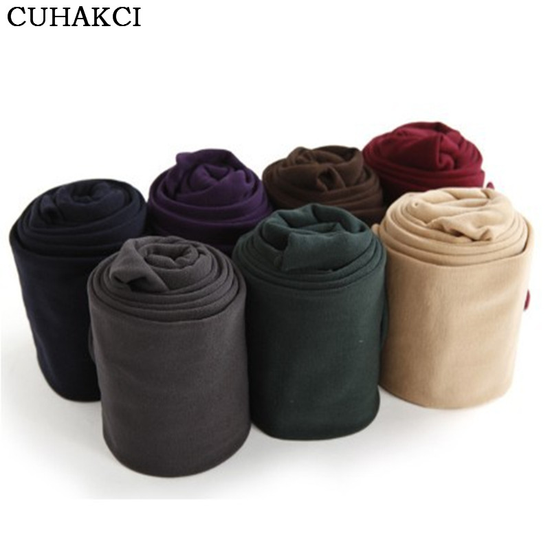 CUHAKCI New Fashion Casual Warm Faux Velvet Winter Leggins Women Leggings Knitted Thick Slim Women Legins Woman Pants