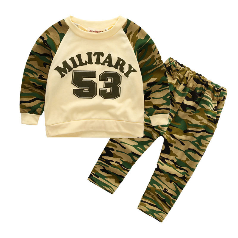 Nnilly 2018 Spring Favourite Novelty Baby Childrens Clothing Boy Childrens Set T-shirt+Pants Brand Cartoon 2pcs/set Print