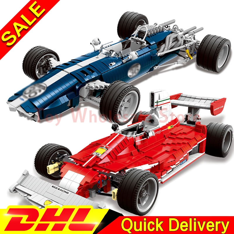 In Stock XINGBAO 03022 + 03023 Genuine The Blue Racing Car Set Building Blocks Bricks Ed ...