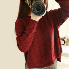 2015 Women Sweater Women's Sweater Clothing Of Leisure Loose Open Fork Sets Show Warm O-neck Fashion