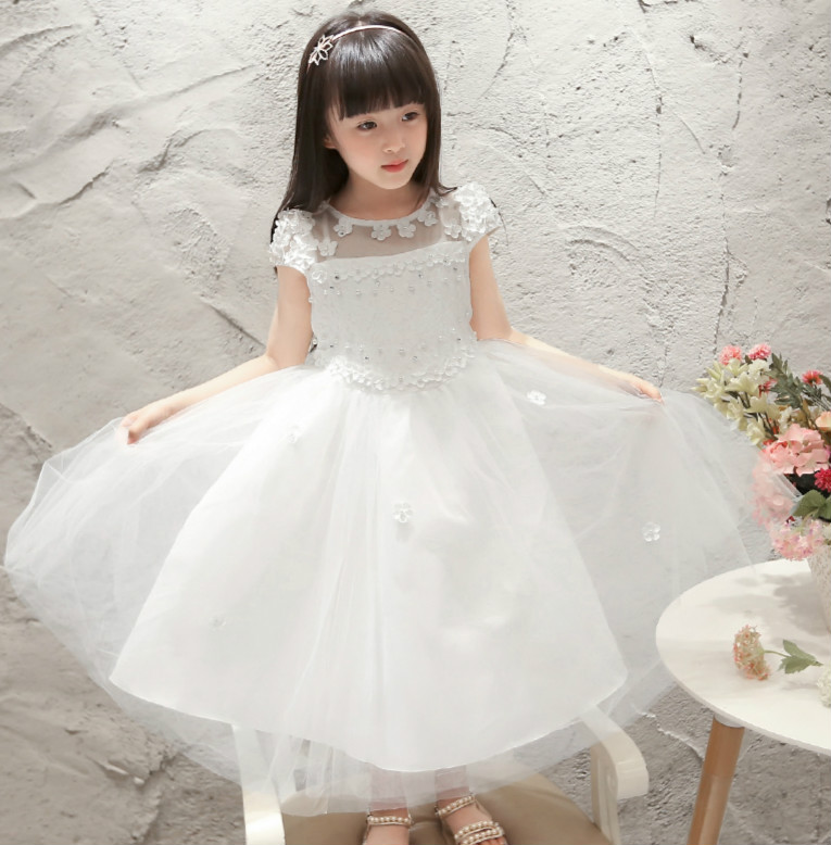 Girls princess dress in the summer of 2016 the new children dress son summer cuhk children tu tu  dress veil 2pcs 90 degree up