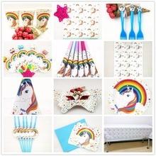 Birthday Unicorn Happy Kids Party Decorations Decoration Set Supplies Baby Favorite