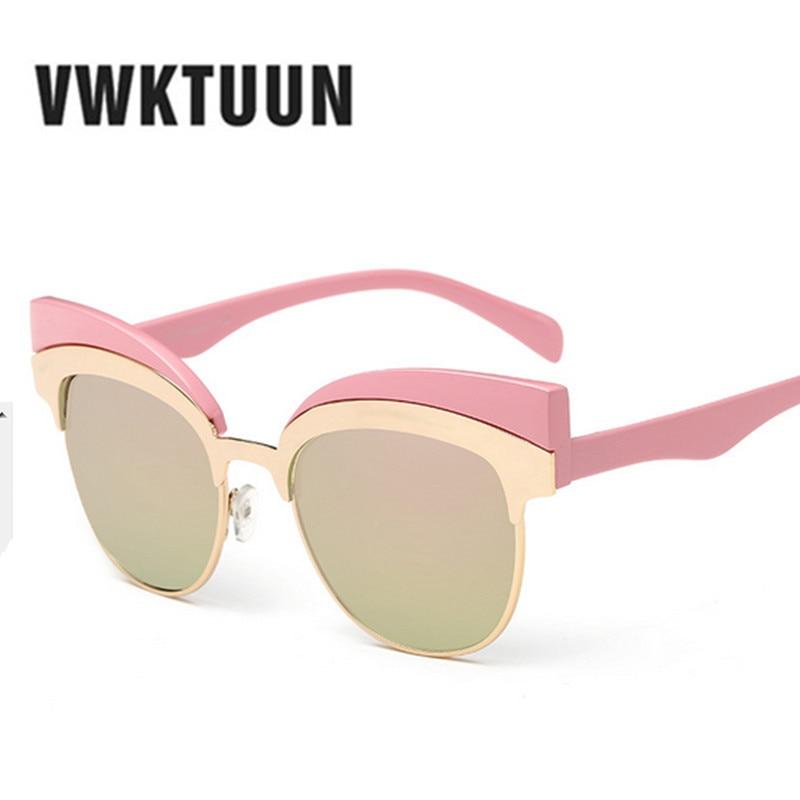 VWKTUUN Moda Olho de Gato Óculos De Sol Das Mulheres Designer de Marca de  Óculos de Metal Pernas óculos de Sol Para As Mulheres Do Vintage Oculos de  sol ... a389cca020
