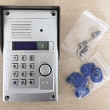ZHUDELE цифровая невизуальная система внутренней связи для зданий аудио дверной телефон наружная станция, пароль или ID карта разблокировка функция
