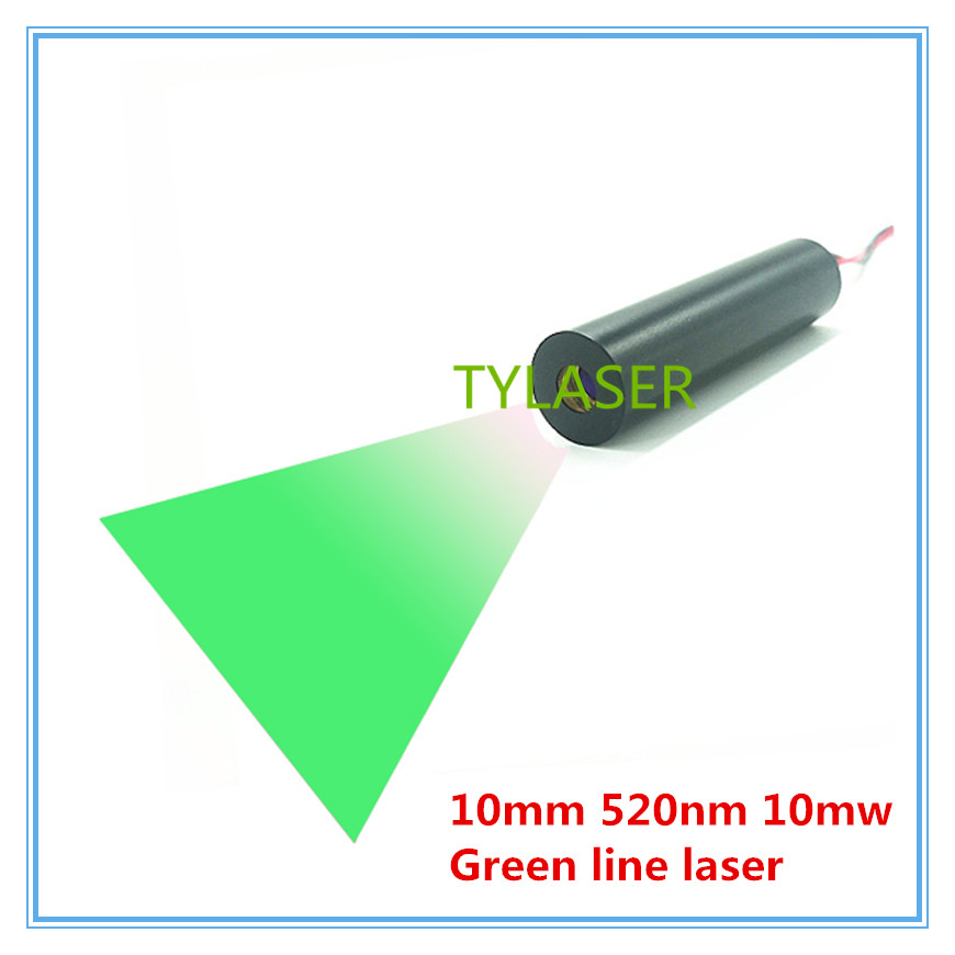 High End 10mm 520nm 10mW  Green Line Laser Module Industrial Grade APC Driver TYLASERS