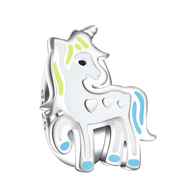 Unicorn Silver Beads Fit Bracelet
