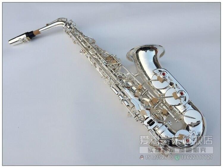 Alto Saxophone silver saxophone playing Sax professional musical instrument EB Alto Saxophone alto saxophone 54 eb flat alto sax top musical instrument sax wear resistant black nickel plated gold process sax