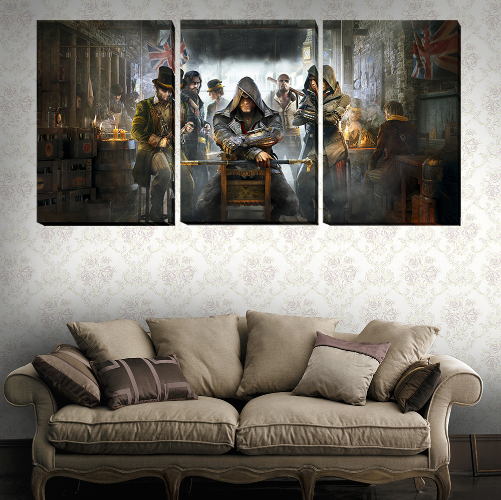 Unframed The Game Poster British 3 Piece Walling Art Picture Paint On Canvas Home Decor Paintings