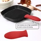 14.3*5*2 CM Durable Anti Skid Soft Non-Slip Silicone Hot Handle Holder protect heat resistant pan handle cover set Kitchen Tool