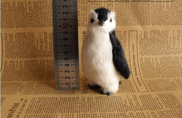 simulation cute penguin 12x8cm model toy ,polyethylene resin handicraft, home decoration gift <font><b>a2505</b></font> image