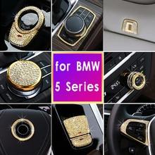 цена на Diamond Style Star Ring Frame Cover Button Volume Adjust Switch Cover Trim for bmw X1 X3 3series 320li 525li 530li 5series