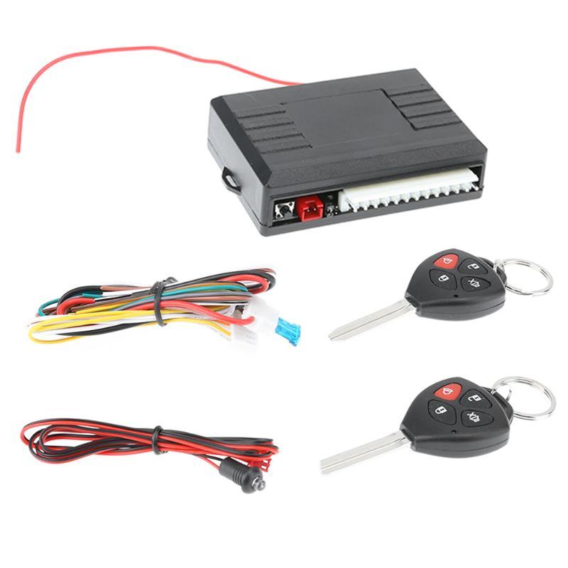 VODOOL 12 V vehículo alarma antirrobo bloqueo sin llave SISTEMA DE SEGURIDAD DE ENTRADA cierre centralizado con mando a distancia para el coche Universal