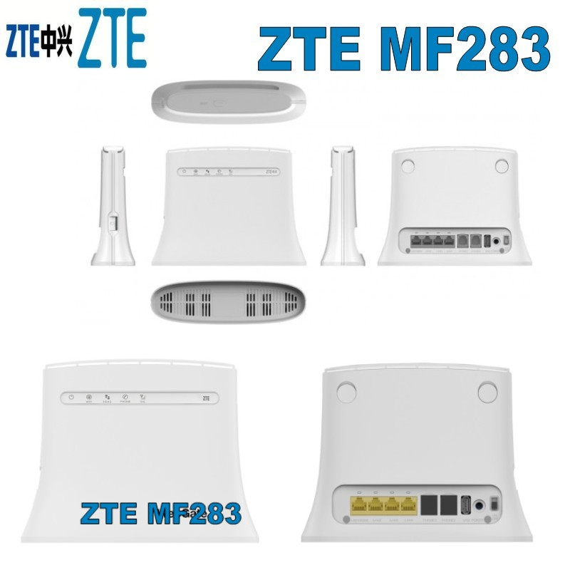 unlocked 100Mbps wireless 4g lte wifi router zte mf283 plus 2pcs 4g antenna zte mf283 черный