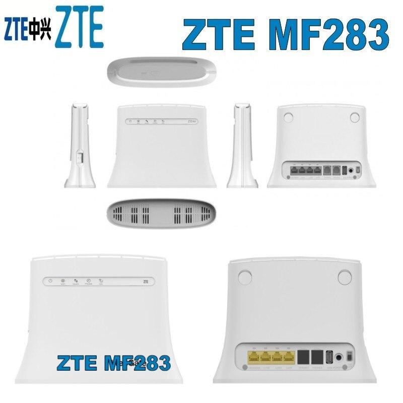 Débloqué 100 Mbps sans fil 4g lte wifi routeur zte mf283 plus 2 pcs 4g antenne