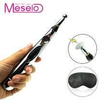 Meselo Electric Shock 9 Strength Nipple Clitoral Vibrator Clit Stimulate Sex Toy Women BDSM Electronic Breast Machine Eye Mask