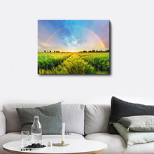 Laeacco Landscape Rainbow Wall Artwork Picture Posters and Prints Canvas Painting for Living Room Home Decoration