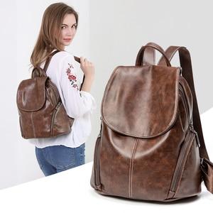 Image 1 - ZROM Women Waterproof Backpack High Quality Leather Backpacks for Teenage Girls Female School Fashion Shoulder Bag Backpacks
