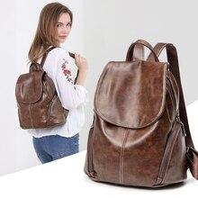 ZROM, mochila impermeable para mujeres, mochilas de cuero de alta calidad para adolescentes, moda escolar femenina, mochila de hombro, mochilas